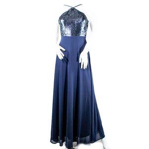Lulus Sequin Maxi Sleeveless Dress XS